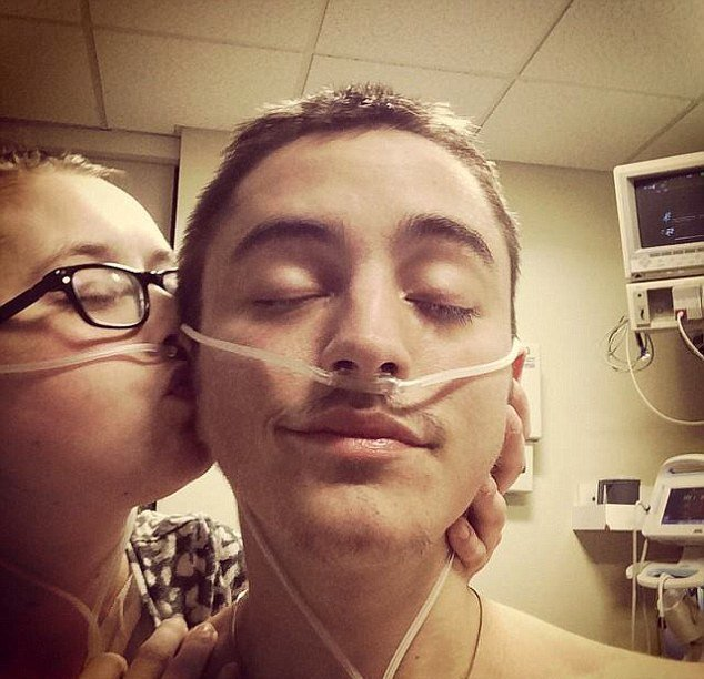 Dalton and Katie Prager - Real life Fault in Our Stars husband dies as his wife bids him farewell on FaceTime because she's too sick to be by his side - taken from Facebook - https://www.facebook.com/dktransplant/